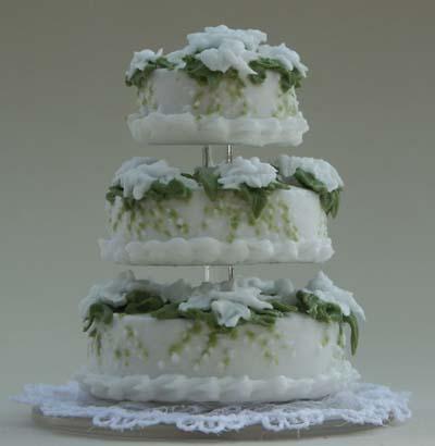 Gardenia And LilyoftheValley Wedding Cake - Wedding Cake With Lilies