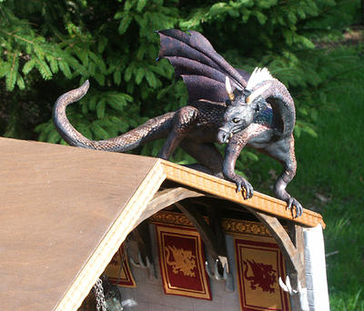 Mother Dragon on Roof of Castle