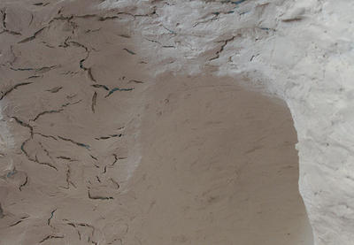 Cracks in dried Paperclay