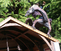 Miniature Sculpted Dragon on Roof