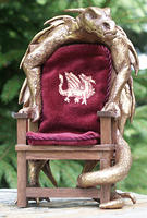 Gilded King's Carved Dragon Chair