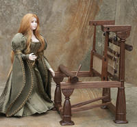 Medieval Tapestry Loom for Lady of Shalott