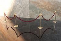 Velvet Ropes and Brass Posts 1:12